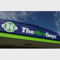 the hire guys signage