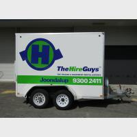 Trailer signage - the hire guys