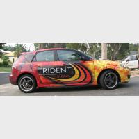 Trident car sign