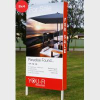 Photo Signs - Rentals 8x4 (2400x1200mm) inc wings