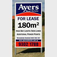 Ayers Real Estate – For Lease Sign