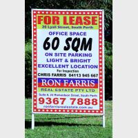 Real Estate For Lease Custom signs